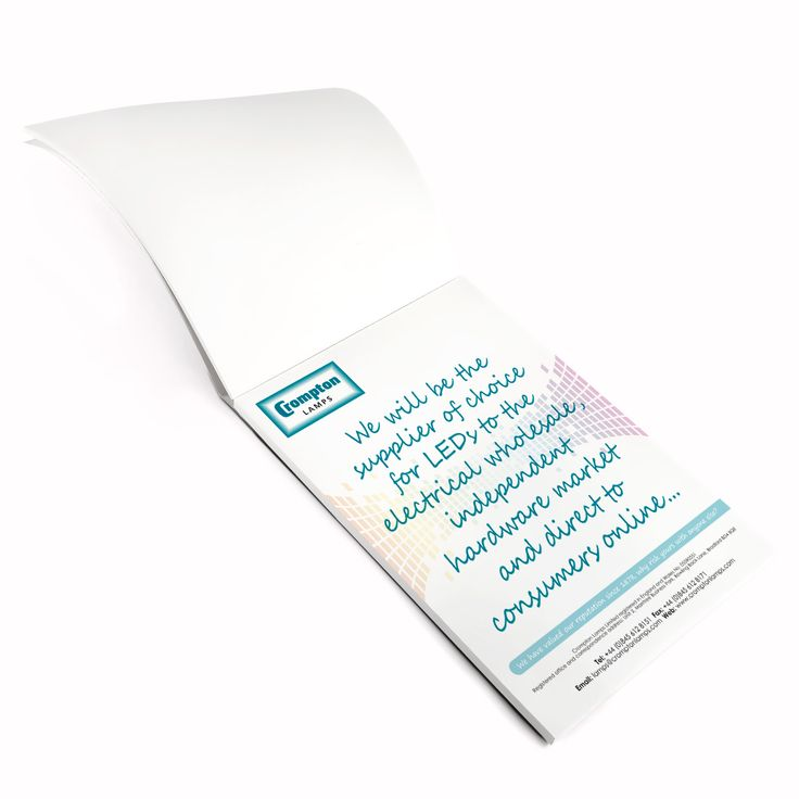 Crompton Lamps A5 notepad