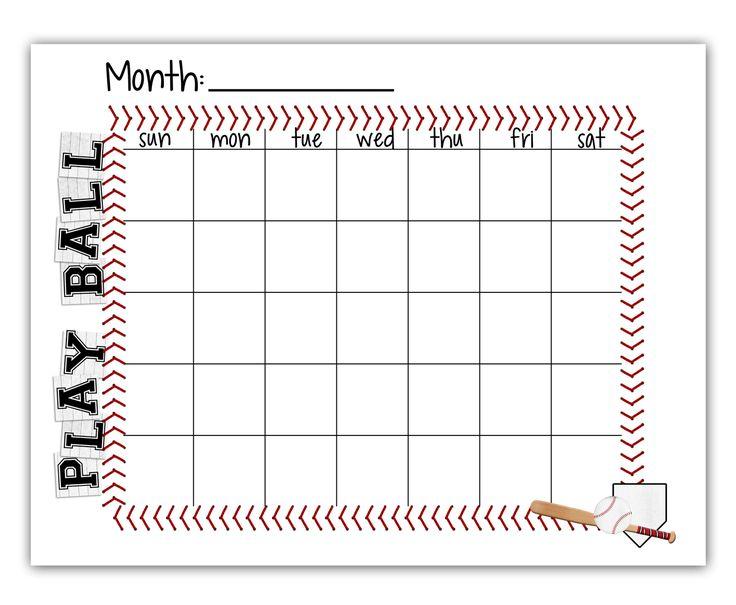 baseball schedule template