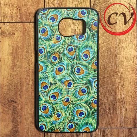 Green Feather Peacock Samsung Galaxy S6 Edge Plus Case
