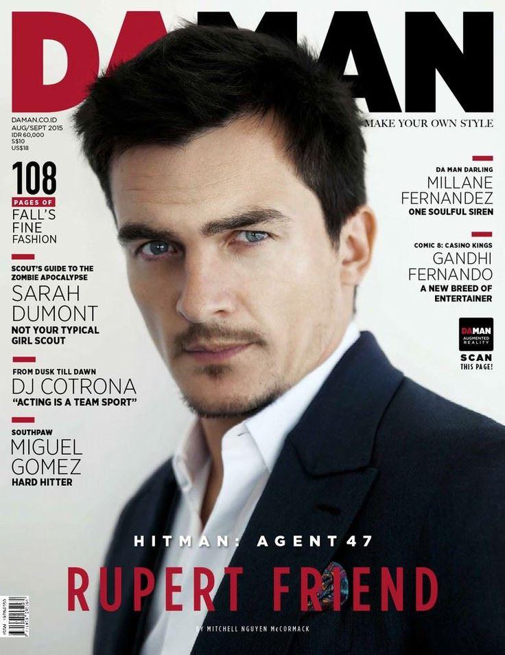 Male Fashion Trends: Rupert Friend para DAMAN Magazine Agosto/Septiembre 2015