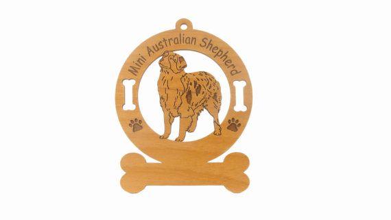 1412 Mini Australian Shepherd Dog, gclasergraphics, #MiniAustralianShepherdOrniment,