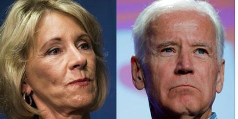 "Former Vice President Joe Biden has some strong works for U.S. Secretary of Education Betsy DeVos. In fact, the 'Diamond Joe' slammed DeVos in a recent interview with Teen Vogue. While discussing his sexual assault prevention organization ""It's On Us"", Biden said ""We're trying to let young men understand that without consent, meaning saying yes, […]"