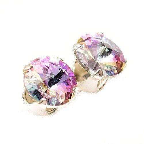 Fin de lot. 925 boucles d'oreilles argent à la main avec des cristaux de SWAROVSKI® Starlight.