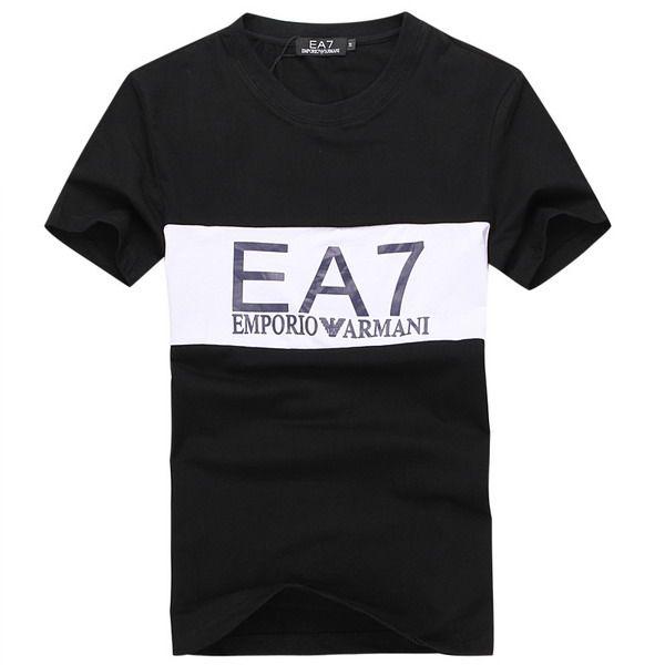 ralph lauren polo outlet online EA7 Emporio Armani Silver Logo Short Sleeve Men's T-Shirt Black White http://www.poloshirtoutlet.us/