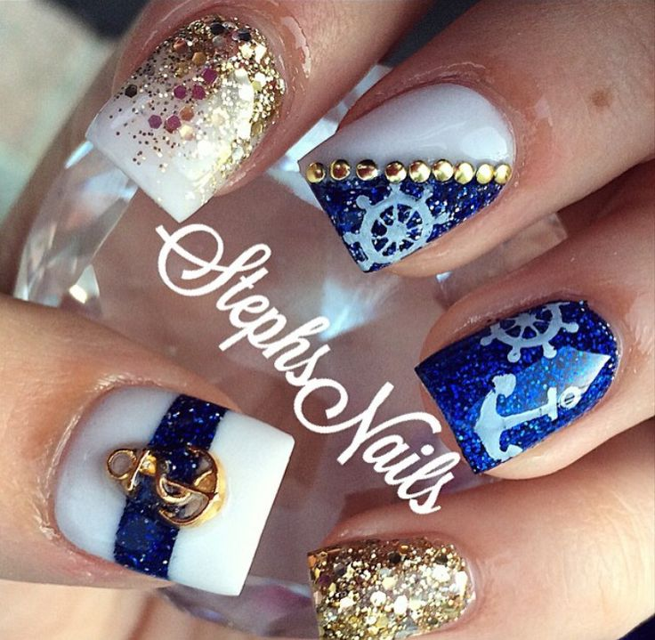 Prom Nail Ideas For Sea: Top 25+ Best White Nail Art Ideas On Pinterest