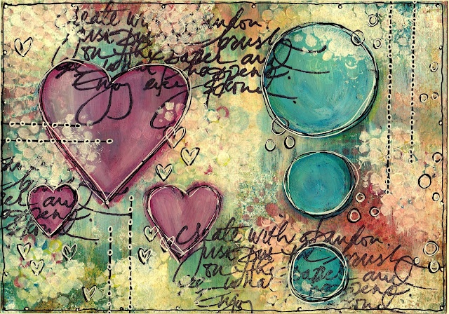 art journaling & background