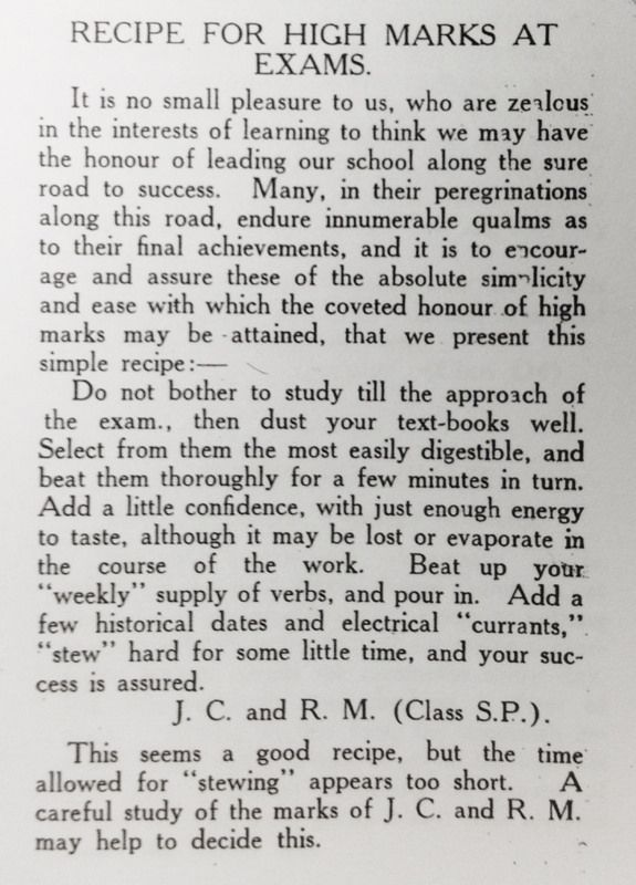 Treasures from the archives of Melbourne High School's magazine, OURS (1920s)