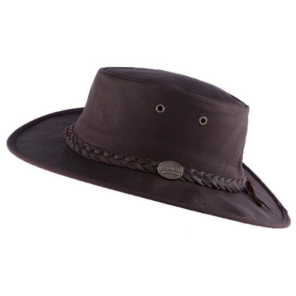 Chapeau Cuir Marron Sundowner Barmah Hats Le Choix Barmah Hat sur Hatshowroom.com #chapeaucuir