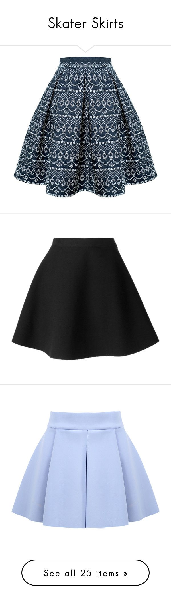 """Skater Skirts"" by brookieg711 on Polyvore featuring skirts, flared midi skirt, skater skirt, pleated midi skirt, flared skirt, flare skirt, black, black skirt, msgm skirt and black circle skirt"