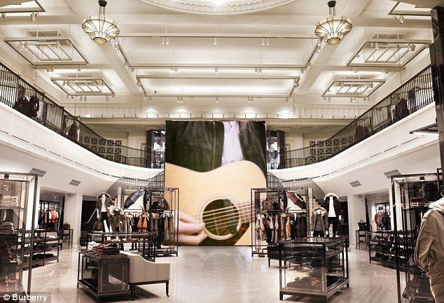 The new Burberry store on New Regent Street is the most digitally-enhanced ever