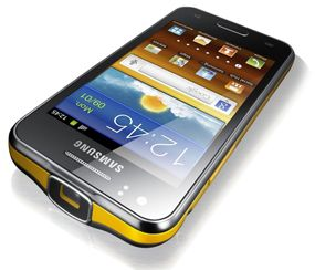 Samsung smartphone with pico projector.  Wow!