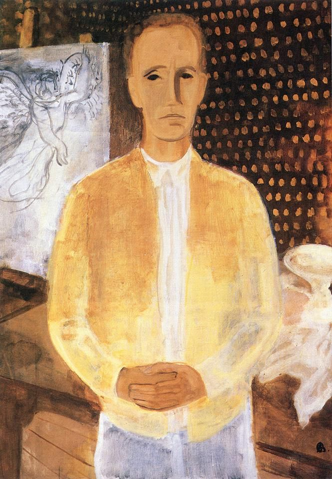 Bernáth, Aurél (1895-1982) - Self Portrait in a Yellow Coat, 1930
