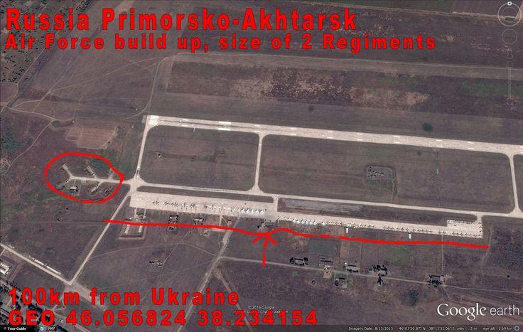 Primorsko-Akhtarsk Russia, Azov Sea. Heavy Air Force concentration.