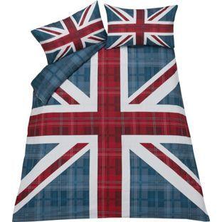 Buy Check Union Jack Multicoloured Bedding Set - Kingsize at Argos.co.uk - Your Online Shop for Duvet cover sets.