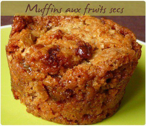 Muffins aux éclats de fruits secs caramélisés