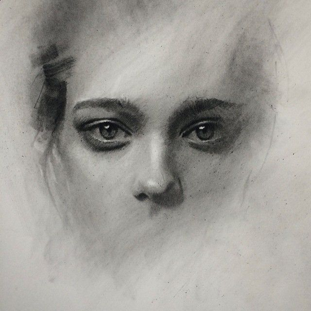 "Instagram media by caseybaugh - Sometimes I think this unfinished stage is stronger than the completed sketch. I tell myself that I will only take it a bit further each time.... But curiosity gets the better of me and I keep working to see it in it fully finished.. I ask myself which stage is actually ""better"" to me? It's a puzzle I have not yet solved."