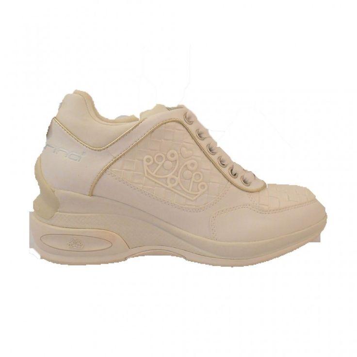 SNEAKER FORNARINA DAILY PELLE INTRECC. MILK   Italian Style Shoes