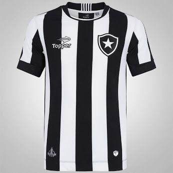 http://compre.vc/v2/bef5fc81 Camisa do Botafogo I 2016 Topper - Masculina - PRETO / BRANCO  POR: R$ 212,49  Centauro.com.br