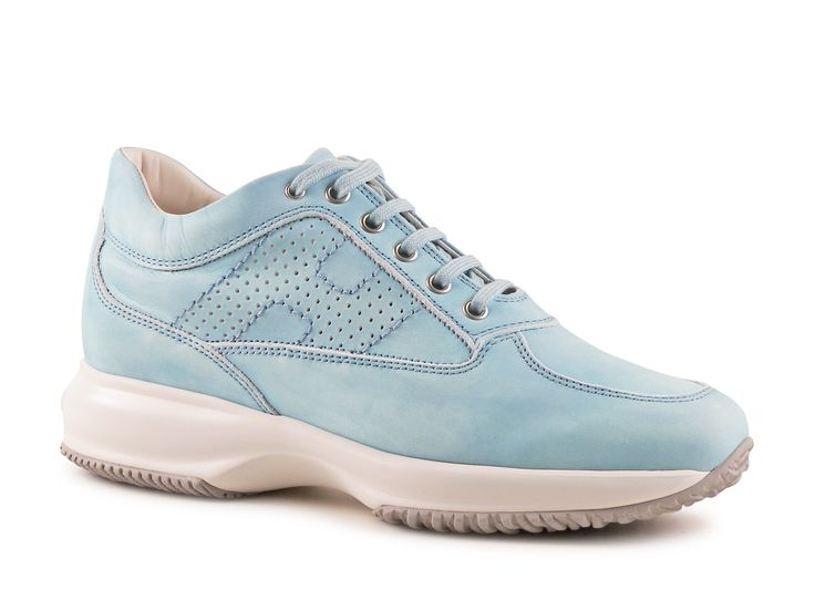 Hogan Interactive women's Azure Leather sneakers shoes - Italian Boutique €186