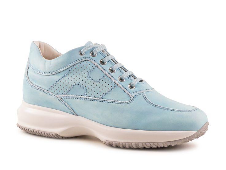 Hogan Interactive women's Azure Leather sneakers shoes - Italian Boutique €186