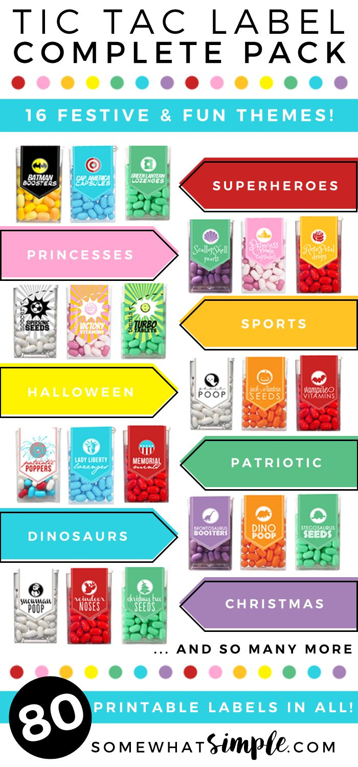 If there's one thing our readers love, it's our Tic Tac labels! And why wouldn't they? These really do make the perfect little gifts and party favors!