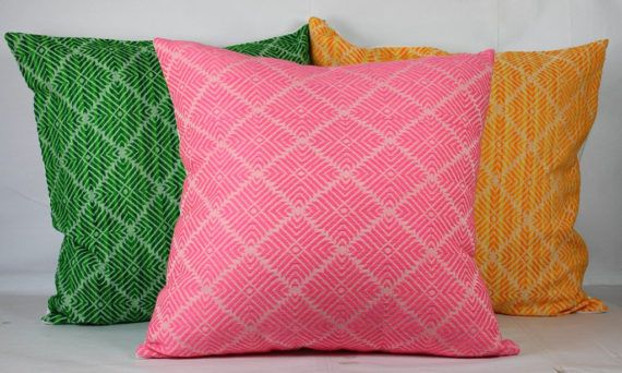 Green throw pillow sofa yellow orange 18x18 pillow cover 24x24 pillow covers 20x20 outdoor pillows cases pink pillow case covers pillows handmade pillow only pillow cover, insert not included size 18x18 inch. I also do customize order,please let me know incase you need cushion in size 12x12, 16x16, 20x20 or 24x24 inches.  100% cotton fabric jacquard fabric surged seams invisible zipper wash in cold water,do not use bleach  there might be slight variation colour between actual pillow colour…
