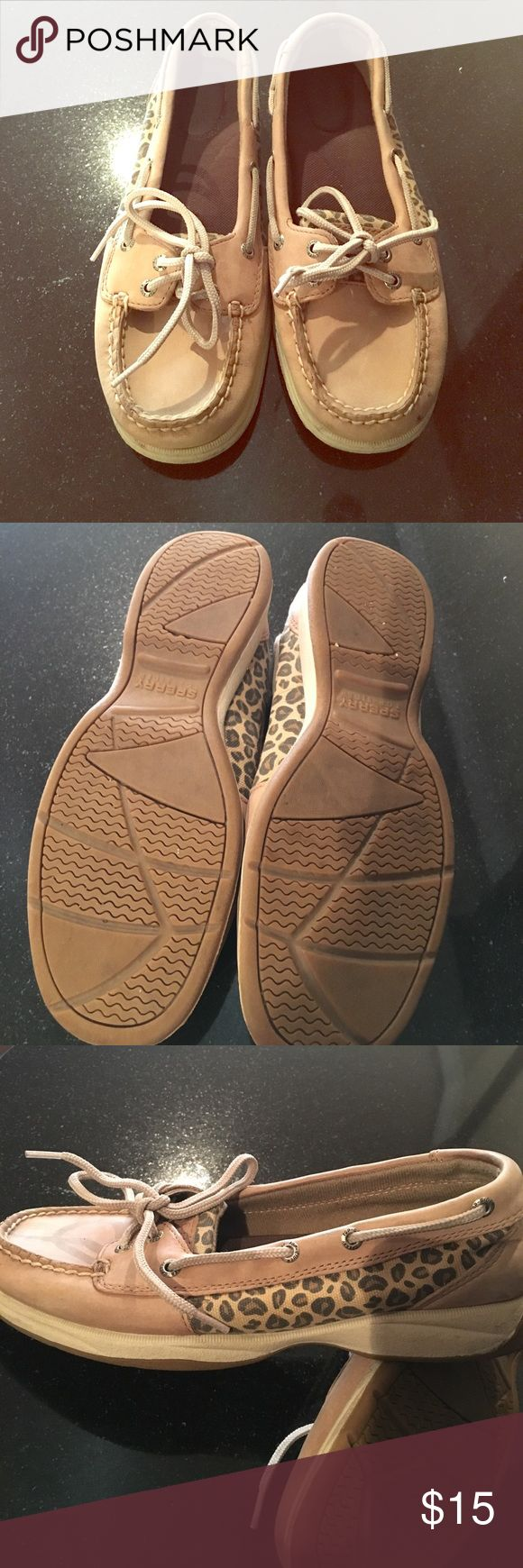 Sperry Angelfish flats Tan/leopard flats worn a handful of times. Super comfortable and in good condition. Sperry Shoes Flats & Loafers