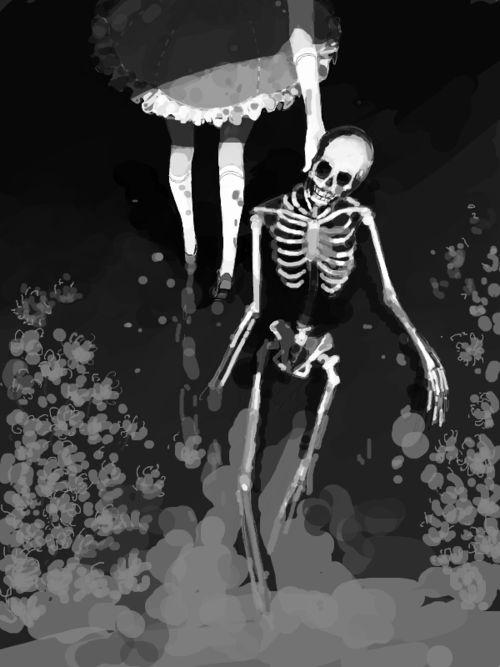 #girl #anime #skelett