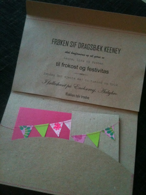 Invitationer inkl. udtagelig ønskeliste og svarkort