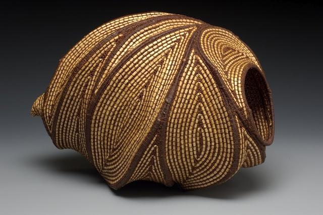 "Jan Hopkins - ""In Motion""Grapevine, waxed linen and Alaskan yellow cedar bark"