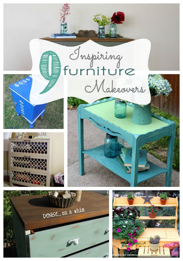 Inspiring Furniture Makeovers that anyone can do. Many includes step by step instructions.
