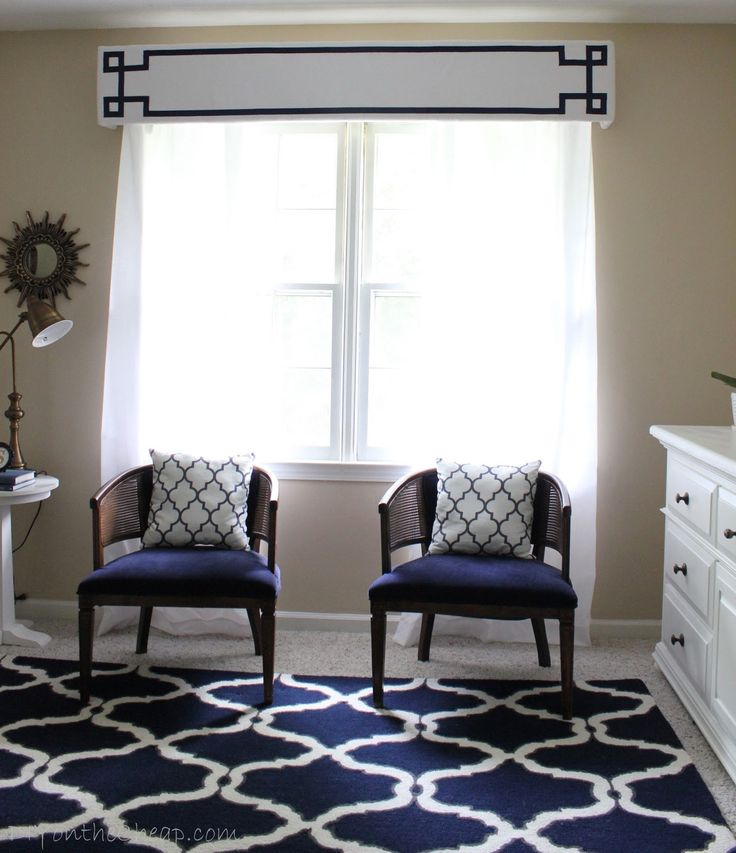 living room window valance ideas%0A New Window Treatments   DIY Cornice Frame Kit Review