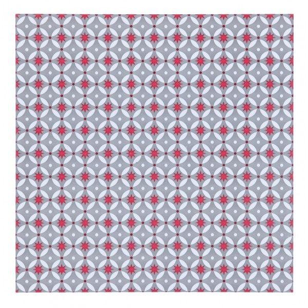ATW - Dalle adhésive VINTAGE - RED STARS - Lot de 11 dalles  http://www.homelisty.com/vinyle-carreaux-de-ciment/