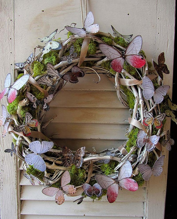 Whimsical Butterfly Wreath