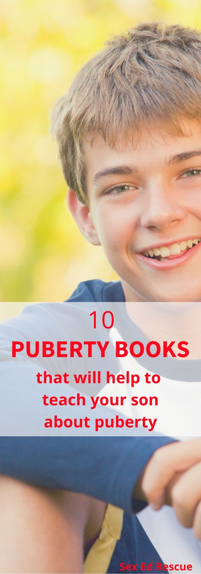 Puberty books are a great way to start talking about the big changes that are coming your way! Here are 10 favourites for you and your son to read!