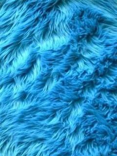blue bath rug