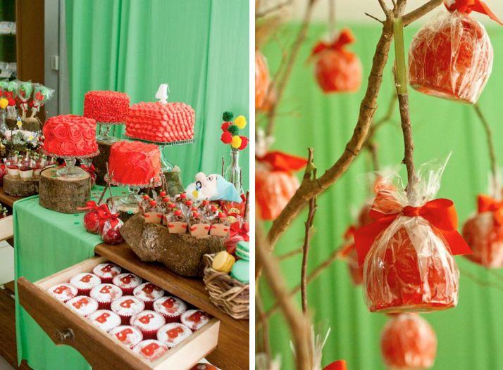 Snow White princesa festa de aniversário temático via Idéias do partido de Kara - www.KarasPartyIdeas.com