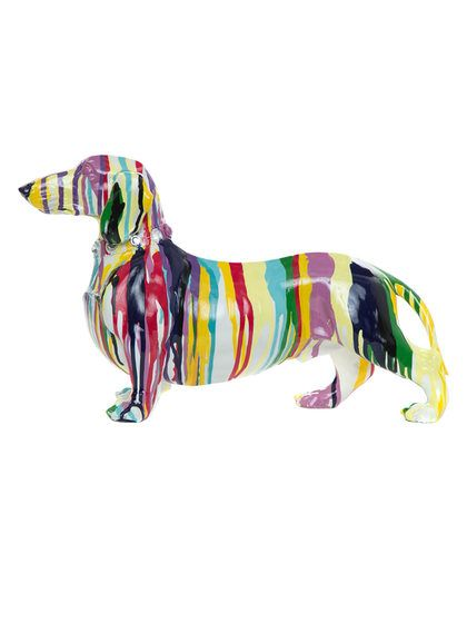 Graffiti Dachshund Dog Sculpture by Interior Illusions at Gilt