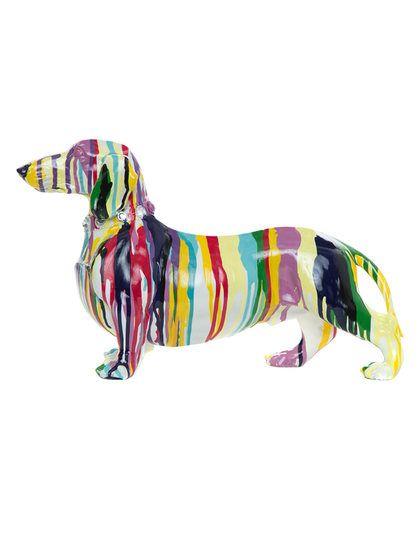 Graffiti Dachshund Dog Sculpture by Interior Illusions at Gilt