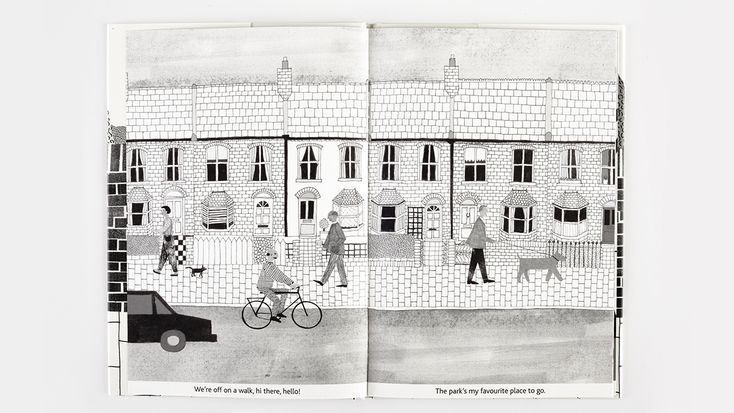 A dog day, text and illustrations by Emily Rand, published by Tate | Phileas Fogg Agency