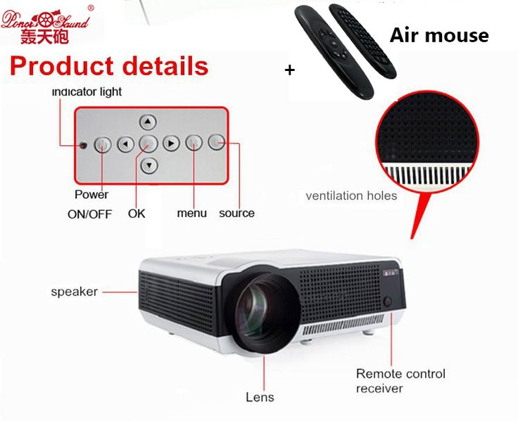 ==> [Free Shipping] Buy Best Poner Saund Hot Sale Newest Original 5500lumen Android 4.4 LCD Projector WiFi Bluetooth factory projector PK Smart television Online with LOWEST Price | 32805290087