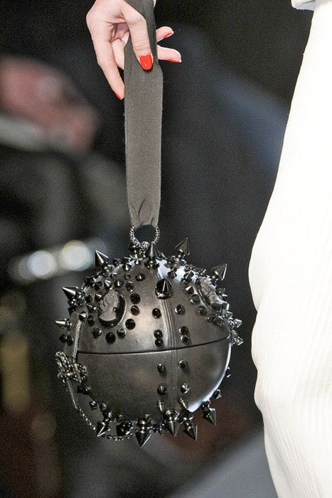 Jean Paul Gaultier Black spiked Purse that can be used as a weapon!