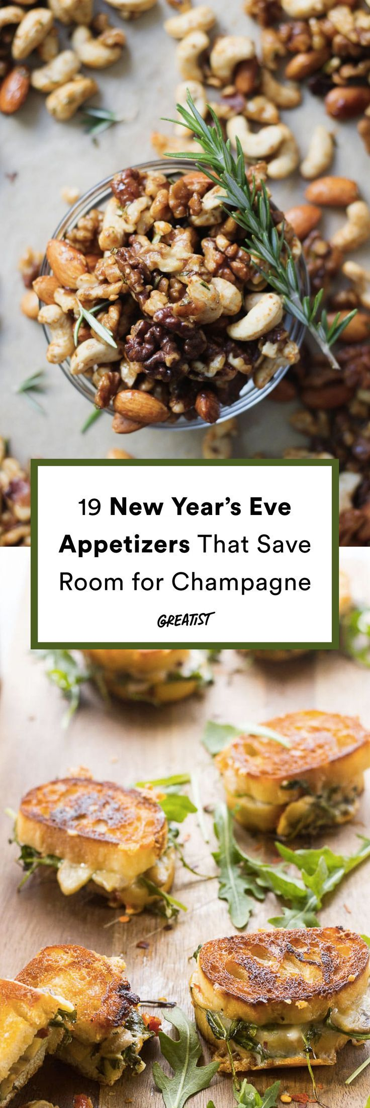 Blame the bloat on the bubbly, not the bites. #greatist https://greatist.com/eat/new-years-eve-appetizer-recipes