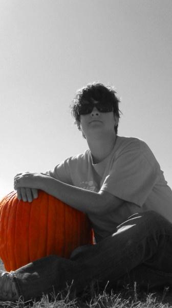 294/366: Pumpkin Patch - Visit to the Flower Mound Pumpkin Patch. Lots of orange!