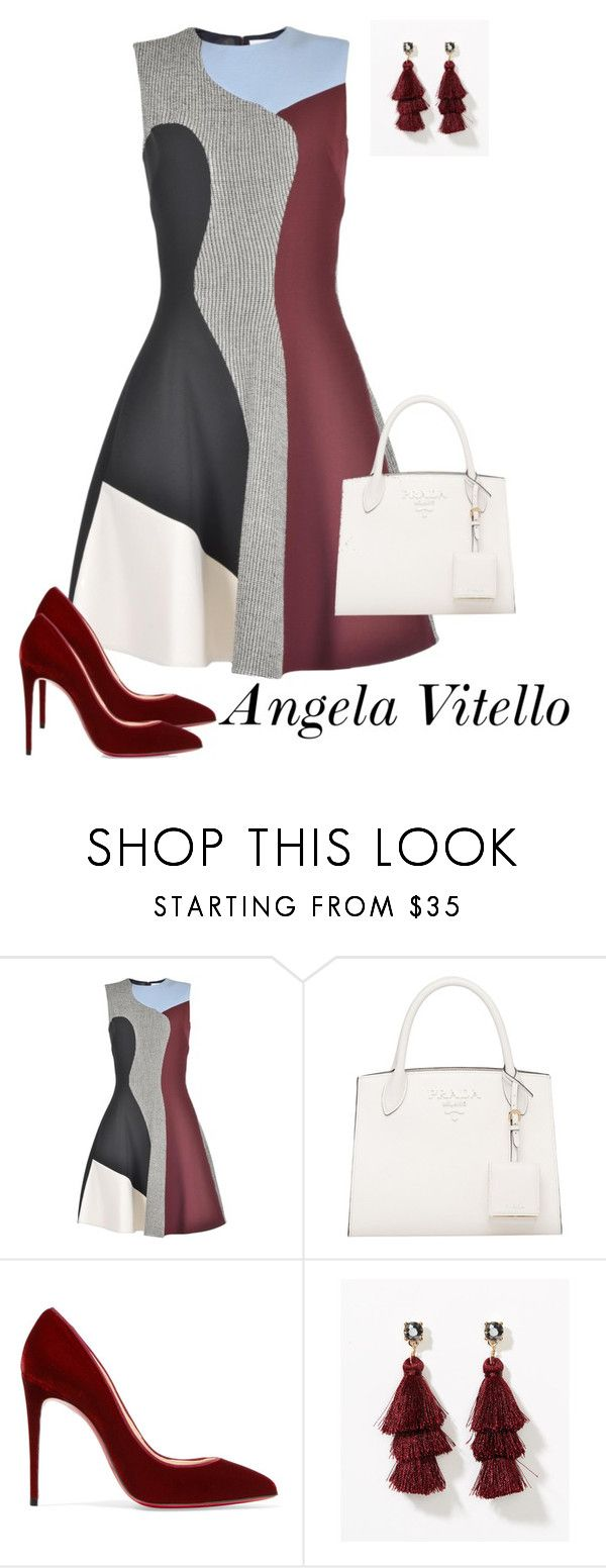 """""""Untitled #1087"""" by angela-vitello on Polyvore featuring Victoria Beckham, Christian Louboutin and LOFT"""