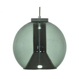 Smoke glass hanging lamp by Raak