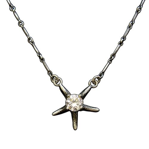 Sparkle Starfish Necklace, 18""