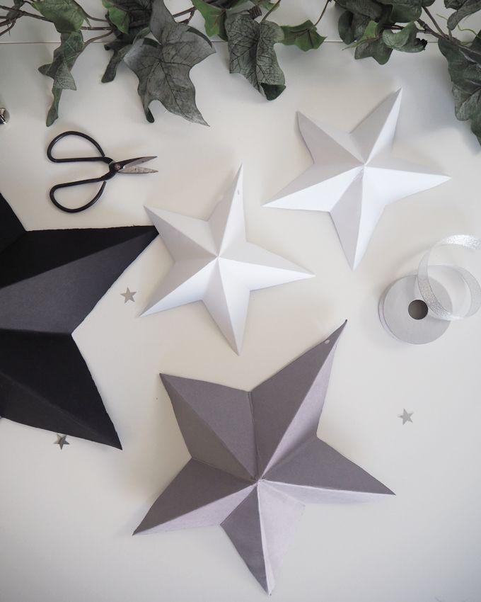 Diy Paper Star Decoration Madeupfestive Made Up Style Diy Christmas Star Diy Christmas Paper Paper Christmas Decorations