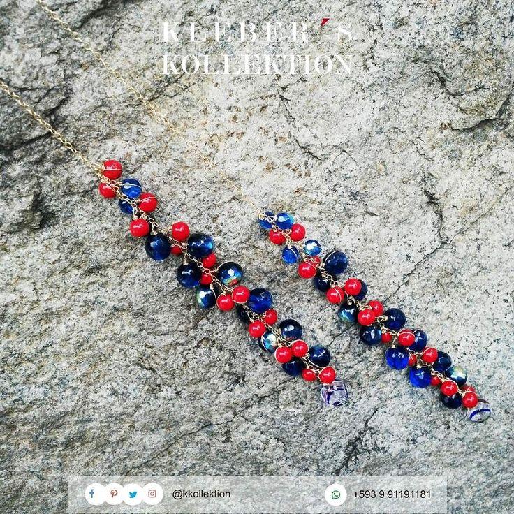 Noche de combinaciones clásicas que funcionan: rojo  azul  dorado = perfect match!  Fotografía : @klebersoriano  be DIFFERENT choose an #kk #fashion #moda #crystals #scarf #necklace #bijoux #bisuteria #jewel #jewelry #publicidad #ads #photography #handmade #estilo #style #accesorios #accessories #fashionista #marketing