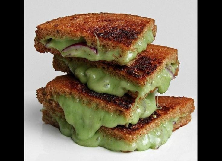 Wasabi-Gouda And Onion Grilled Sandwich